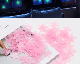 100 Pcs Luminous Glow in the Dark Stars- Home Decal