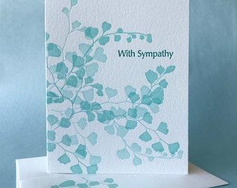Maidenhair Fern Sympathy Card