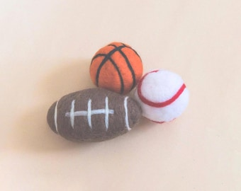 Football prop, basketball prop, felted ball plush, newborn plush, stuffed ball, baseball prop, newborn prop, felted prop, newborn prop