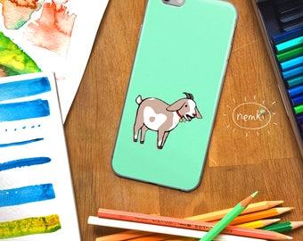 Goat Phone Case Goat iPhone Goat Samsung Cute Goat Gift Yelling Goat Cute Goat Gift Farm Animals Goat Goats Goat Phone