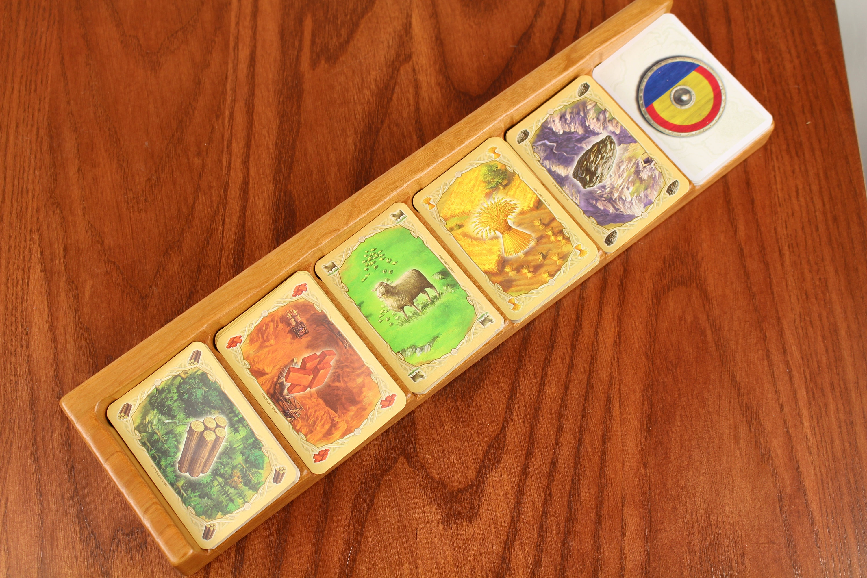 Settlers of Catan Resource Card Holder With 2 Free Piece