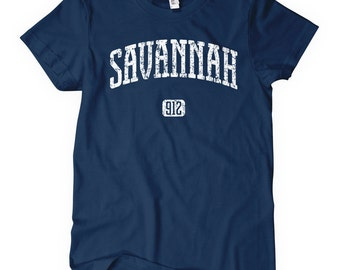 Women's Savannah 912 Georgia T-shirt - S M L XL 2x - Ladies' Tee, Gift, Savannah Shirt, Georgia State, University Shirt, 912 Area Code Shirt