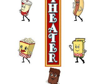 Theater Marquee Snacks Wall Decal Set #40830