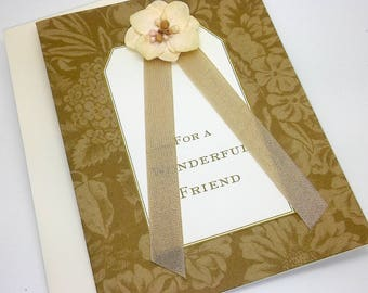 Wonderful Friend Greeting Card with Cream Envelope
