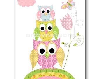 Owl Decor Owl Nursery Art Baby Nursery Print Baby Girl Nursery Decor Printable Print Digital Download Print 8x10 11X14 INSTANT DOWNLOAD