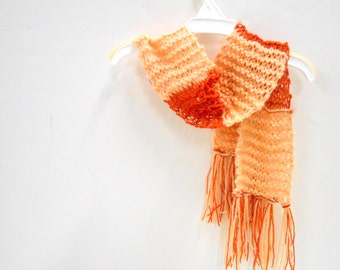 Mary Poppins Inspired Little Girls Scarf, Knit Scarf, Halloween Costume Accessories, Dress Up