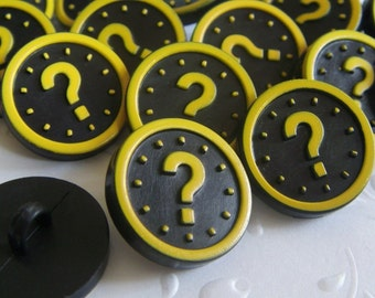 12x QUESTION MARK BUTTON 15x15mm - Code 88061