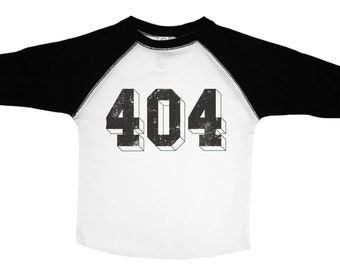 Atlanta Kids Tee, 404 Raglan Shirt, Toddler Tee, Atlanta Raglan Baseball Tee, Toddler Shirt, Hotlanta Toddler Tee, Atlanta Kids Shirt, 404