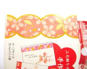 Cherry  Blossom Sticker Tape  Japanese Happy New Year  Sticker Tape