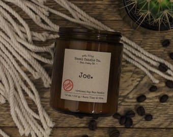 Coffee Scented Candles, Eco Friendly, Vegan Soy Candle, Essential Oil Soy Candles, Vegan Gift, Wedding Gift, Gift for Him