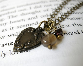 Mathilde Necklace Donation Item - Heart Necklace / Dainty Dark Victorian Small Charm, Mother's Day Jewelry, 100% Proceeds Donated