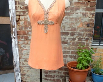 vintage 1960's party mini dress XS/S