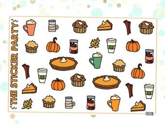 Pumpkin Spice Planner Stickers   ERIN CONDREN
