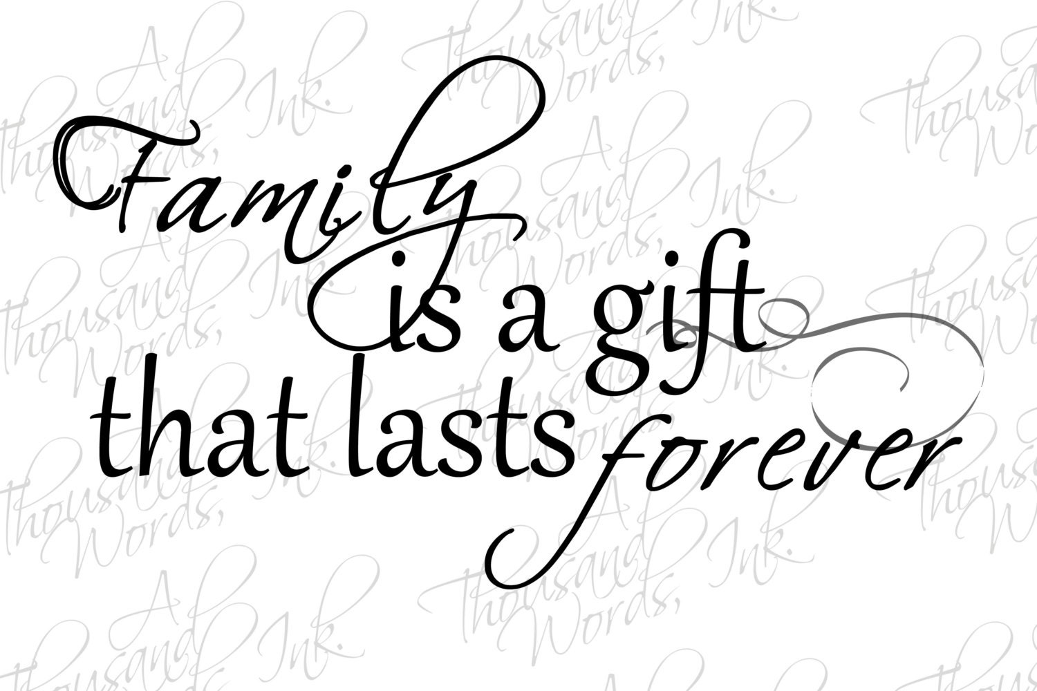 Family Quote Digital Overlay Family Gift Quotepng File Digital
