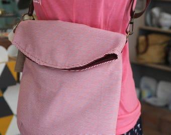Upcycled Fabric Vegan Leather Shoulder Bag | Vintage Style Urban Day Messenger Bag back to school 2017