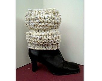 Chunky style Boot Cuffs - KNITTING PATTERN - #830, women's winter accessories, boot savers