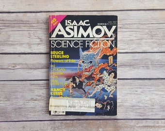 Isaac Asimov's Science Fiction Science Fiction Short Stories Asimov Fun Retro Sci Fi Booklet May 1987 Edition Japanese Story Dragon Cover