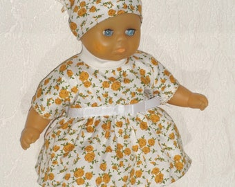 Dress, bloomers and turban for doll doll 30 cm Corolla raynal, bella, gege Compatible