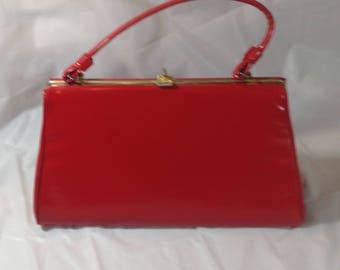 Vibrant Red Vintage Ladies Purse