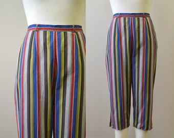 1950s Fligelman Striped Cotton Capri Pants
