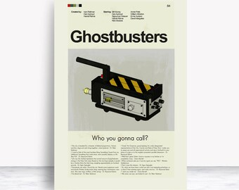 Ghostbusters Mid-Century Modern Inspired Print
