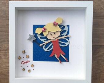Personalised fairy frame, Fairy, frame, girls, children, bedroom, gift