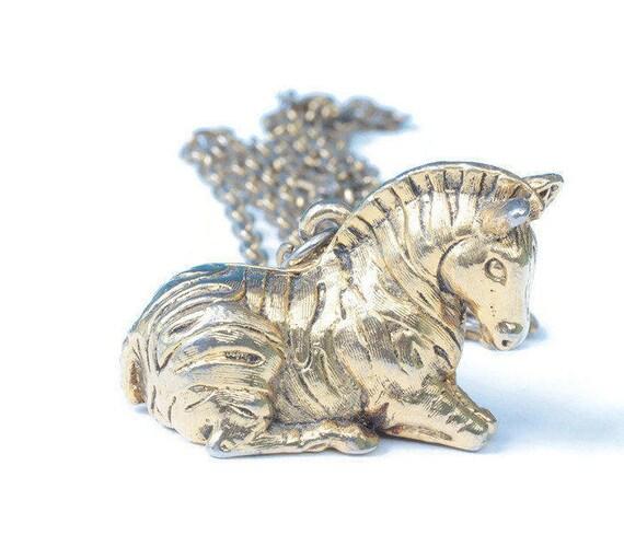 Max Factor Zebra Perfume Locket Necklace Vintage Solid Perfume