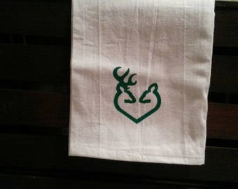 Buck and Doe Flour Sack Towel || Buck & Doe || Hunting Decor || Wedding Gift