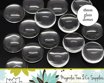 18mm round glass domes, 10 or 20 pcs, glass domes, round clear glass, glass cabochon, glass dome seals (GD18A,GD18B)