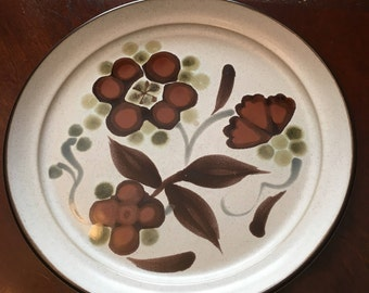 Vintage Noritake Folkstone - Orinda 8540 - Genuine Stoneware -Set of 4 Salad Plate - Made Between 1975 - 1981 - Made in Japan