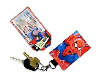 Marvel Spiderman ID Wallet, Mini Wallet, Lanyard ID Holder, Luggage Tag, Vacation ID Wallet