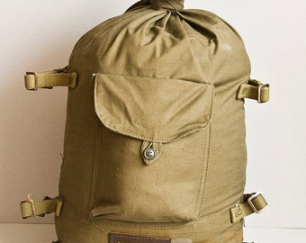 Soviet military canvas bag - Army backpack, Vintage purse, Made in USSR