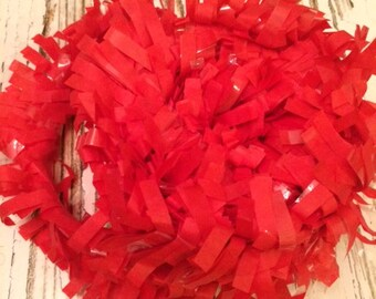 Tissue Paper Garland, Festooning, Tissue Festooning Garland, Paper Fringe,Red Festooning Tissue, 25 Feet