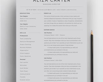 Creative Resume Template, Minimalist Resume, Resume Design, Modern Resume, CV  Template,