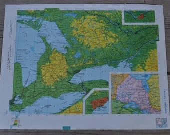 Toronto Ontario Canada Vintage Map Print