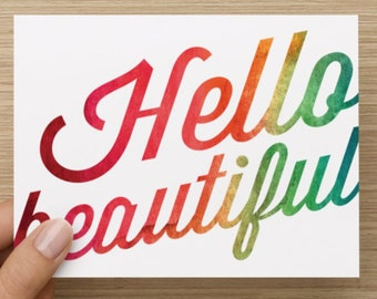 Hello Beautiful Note Cards - Set of 10