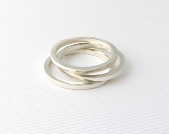 Silver stacking ring- Ethical rings- Stacking rings- Sterling silver ring- Minimalist rings- Girlfriend gift- Gift for her- Unusual ring