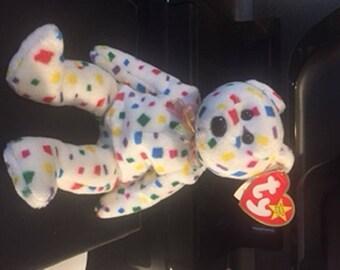 RARE 'Ty 2K' Bear Beanie Baby w/ Flat Flush tag & Errors