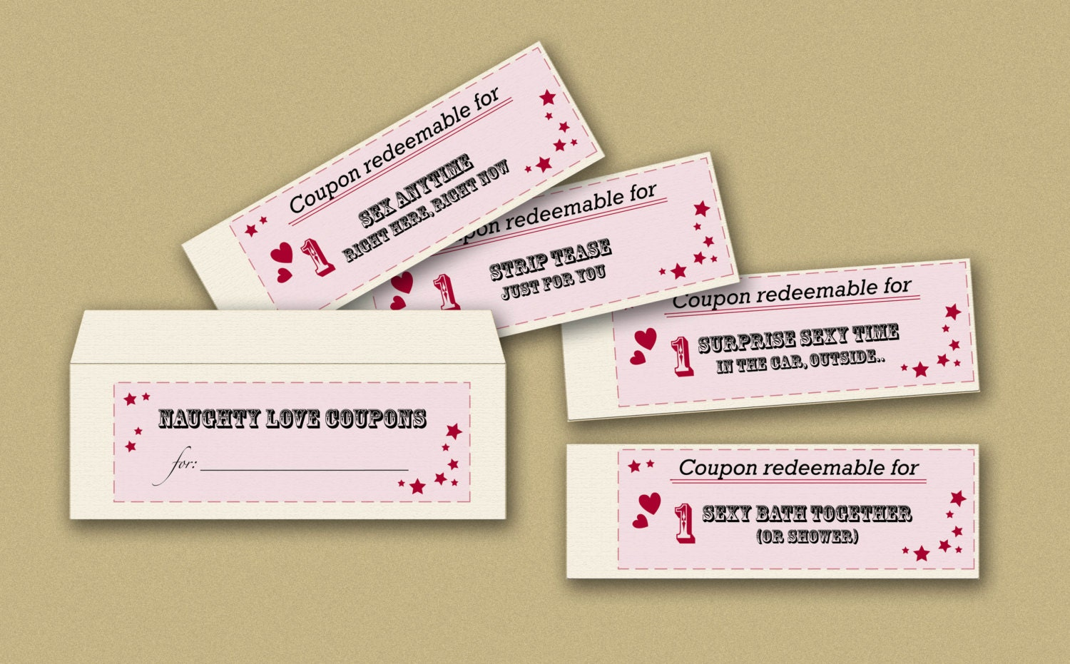 This is a graphic of Dashing Printable Naughty Coupons
