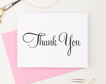Thank You Cards Wedding, Thank you cards Baby shower, Thank you note cards, Thank you notes Wedding, Any Occasion - (Set of 100), WFS05