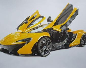 McLaren P1 original drawing