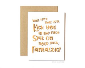 Funny Friends TV Show Card, Congratulations, Friend Card, Celebrate Card