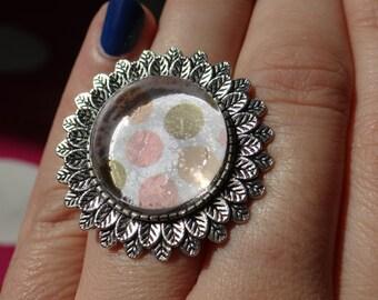 Polka Dots Adjustable Ring