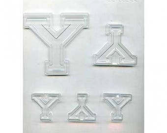 "Collegiate Letter ""Y"" Chocolate Candy Mold"