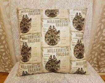 Star Wars, Millennium Falcon, Star Wars Pillow, Millennium Falcon Pillow, Reversible, Handmade, Homemade, PIllow