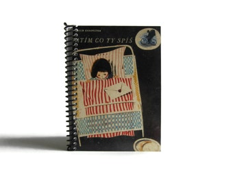 Sleeping Girl Notebook A6 Spiral Bound - Back to School, Blank Sketchbook, Cute Pocket Writing Journal, White Blank Pages, Gifts Under 20