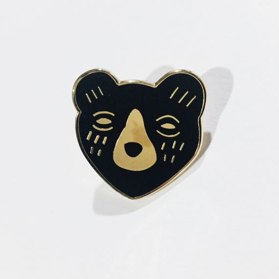 B GRADE * Black Bear Enamel Pin