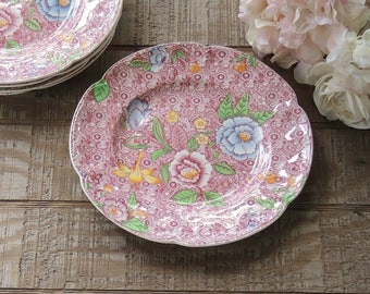 RARE Johnson Brothers English Countryside Pink Multi Floral Dinner Plate, Listing is for ONE plate only
