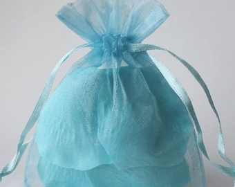 TAX SEASON Stock up 12 Pack Sheer Organza Drawstring Bags  2.75 X 4 Inch Size Great For Gifts, Favors, Sachets, Weddings