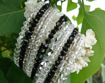 Wedding gift cuff small rhinestones or napkin ring